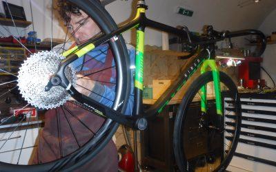 Arbeitsalltag mit coole bikes